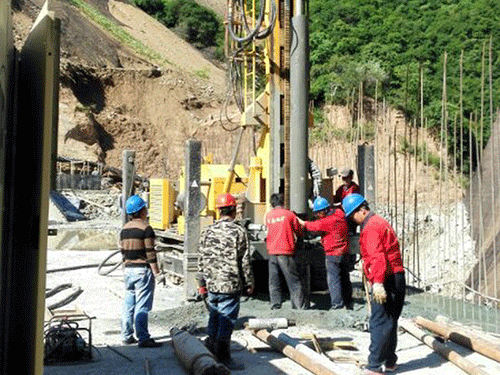 张家坡水库安全监测现场施工图